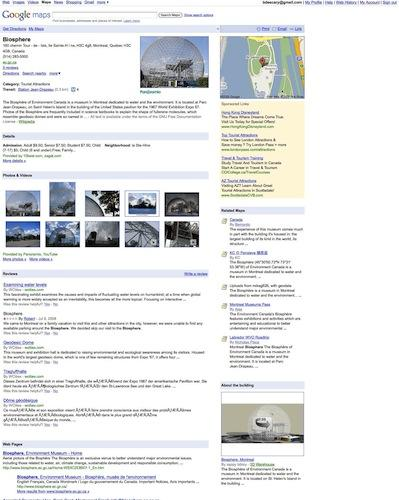 Google Maps Place Pages: lébauche dun guide touristique