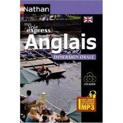 Anglais, immersion orale  Pack 4 CD 100 % audio
