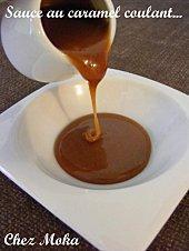 Sauce au caramel crémeux et coulant...