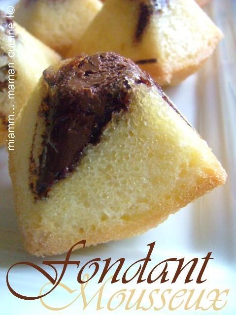 Gâteaux mousseux au nutella (une autre idée pour les blancs d'oeuf)