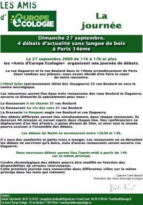Dominique Lemoine et CAP21 à la 1ère journée des amis d'Europe Ecologie dimanche 27 septembre