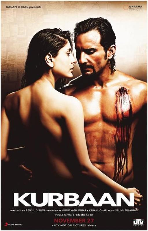 L'affiche de Kurbaan prochain film de Kareena et Saif fait trash