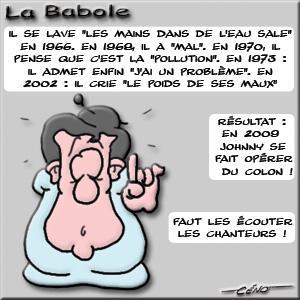 La Babole - Johnny Hallyday opéré du colon...