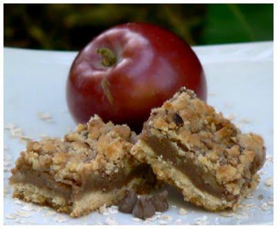 Barres aux pommes, arachides et chocolat