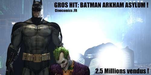 record de vente pour Batman Arkham Asylum