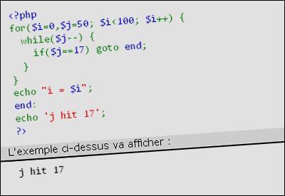 PHP 5.3 : L'arrivée de la structure de contrôle goto