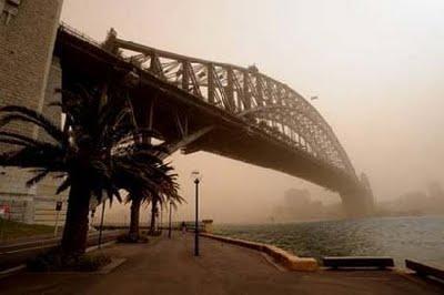 Tempete de sable en Australie