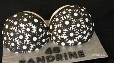 Soutien Gorge dentelle de fleurs  Black & WhiteL 40 c...