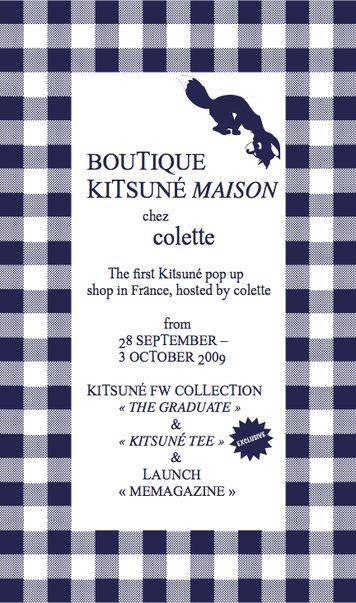 Post image for Boutique temporaire Kitsuné Maison chez Colette du 28 septembre au 3 octobre