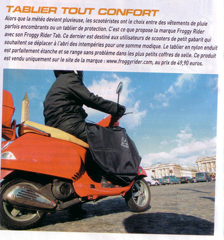 Le magazine Planète 125 parle du tablier scooter Froggy Rider