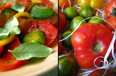 Simplissime mais merveilleuse salade de tomates anciennes