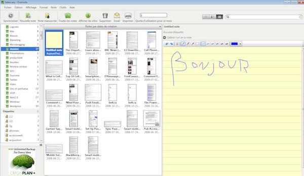 evernote windows 1 Evernote 3.5 bêta pour Windows: plus rapide et une version française