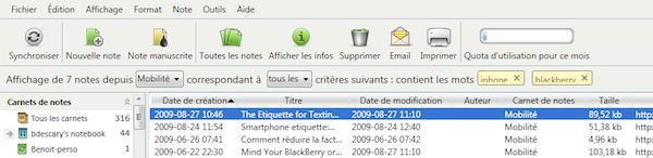 evernote windows 2 Evernote 3.5 bêta pour Windows: plus rapide et une version française