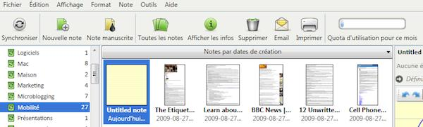 evernotes windows 3 Evernote 3.5 bêta pour Windows: plus rapide et une version française
