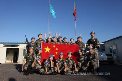 Les militaires chinois dans les opérations de maintien de la paix