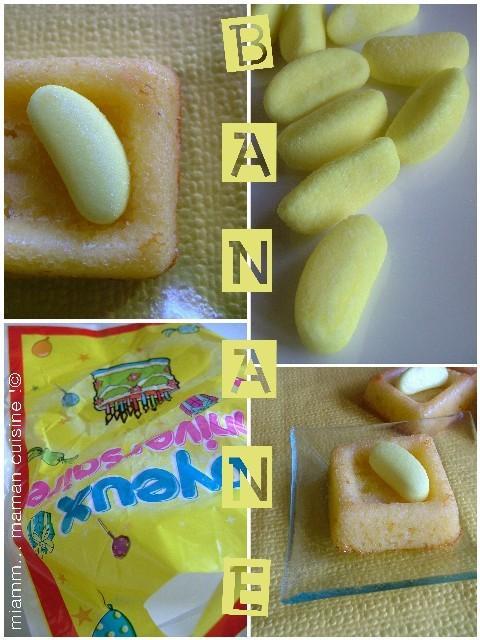 Les mini-cakes à la banane... bonbon !