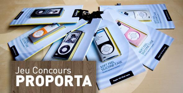news  Gagnez 6 étuis iPod nano 4G Proporta
