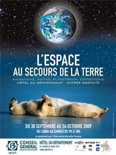 BlueTouchCommunication partenaire de l'exposition « L'espace au secours de la terre »