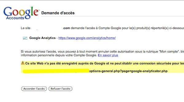 google analyticator 4 Wordpress: ajoutez un widget Google Analytics sur le tableau de bord