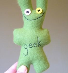 Green Geek - mascotte