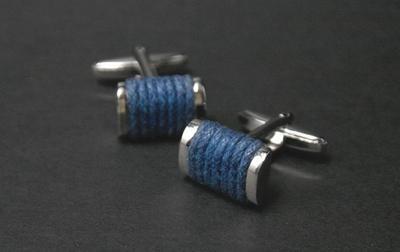Bouton de Manchette Singapore Navy Blue, 24€