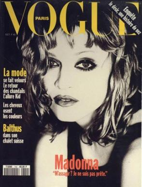 1993 Oct Madonna colombre Pringle Ellen von Unwerth