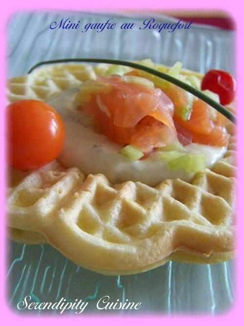 Mini gaufre à la crème de Roquefort