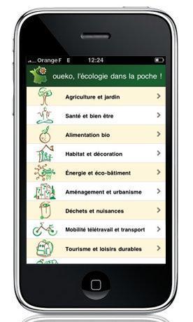oueko, le premier annuaire écolo pour iPhone