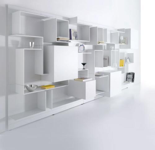 8 Modules blancs d'aménagement & rangement by MDF Italia