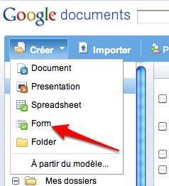 google docs formulaires1 Google Documents: lapplication formulaire permet lenchaînement des questions