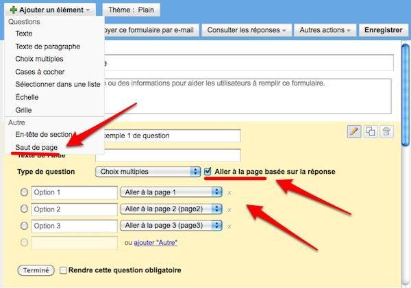 google-docs formulaires