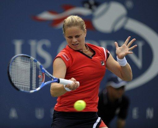 Kim Clijsters à lUS Open. Elle a suivi la voie de Lindsay Davenport, dernière maman à gagner un tournoi majeur.