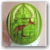 Sculpture sur pastèque