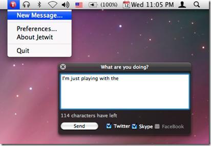 image thumb16 [Mac] Mettez à jour votre statut via Jetwit