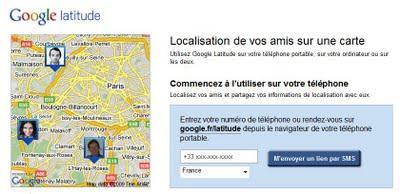 Google Latitude sur mobile