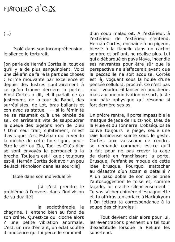 HiSTOiRE D'EUX. François Bernard