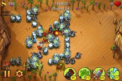 Test : Fieldrunners sur iPhone et iPod Touch