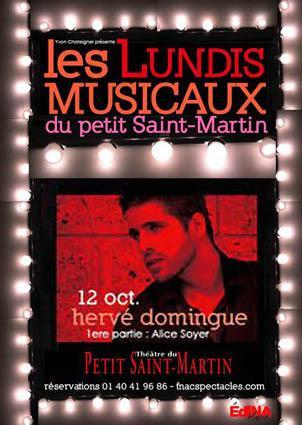 Hervé Domingue au Théâtre du Petit Saint-Martin