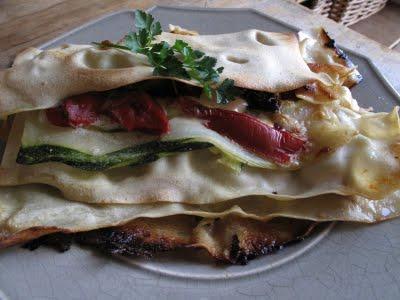 Lasagnes tomates séchées, courgettes et parmesan