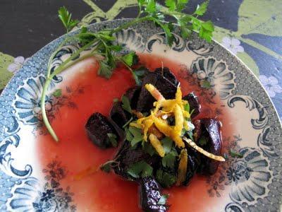 Salade de betteraves rôties à l'orange