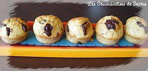 Muffins moelleux et vanillés aux pépites