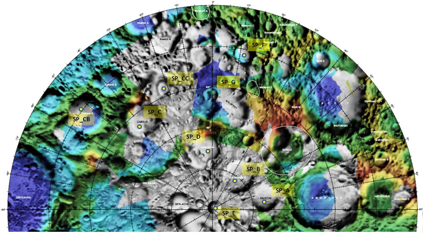 Le cratère Cabeus, nouveau candidat pour l'impact de LCROSS le 9 octobre