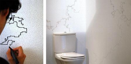 murs de papier 10 papiers peints ludiques et interactifs paperblog. Black Bedroom Furniture Sets. Home Design Ideas