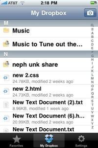 iphone dropbox 1 Dropbox pour iPhone est maintenant disponible