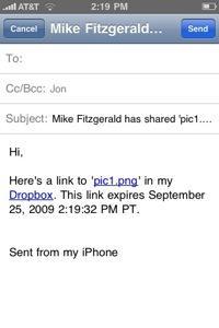 getdropbox iphone 2 Dropbox pour iPhone est maintenant disponible