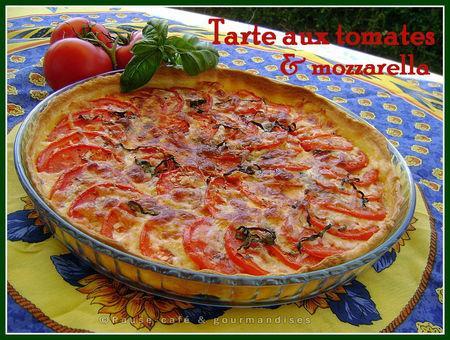 Tarte aux tomates & mozzarella