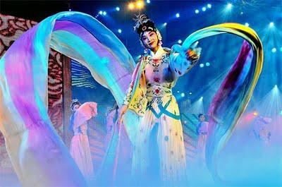 La Reine de la Nuit lors de la cérémonie d'ouverture