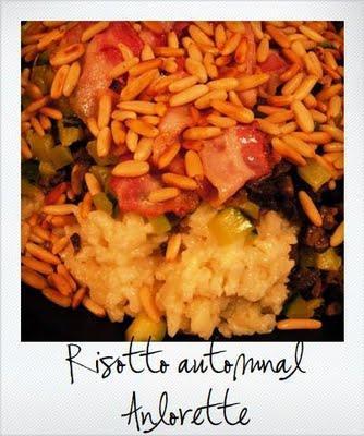 Invitez l'Italie dans votre cuisine ! Le risotto autmonal champignons, pins, pancetta et courgettes