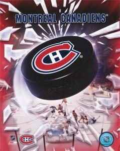 Montreal-Canadiens-2005---Logo-Puck-Photograph-C12187998