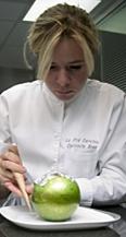 Christelle brua et sa pomme soufflée